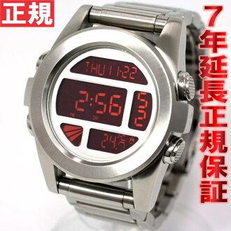 Nixon NIXON unit SS UNIT SS watch mens silver / red digital NA3601263-00