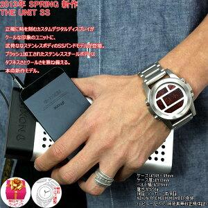 ニクソンNIXONユニットSSUNITSS腕時計メンズシルバー/レッドデジタルNA3601263-00