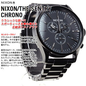 ニクソンNIXONセントリークロノSENTRYCHRONO腕時計メンズクロノグラフオールブラックNA386001-00