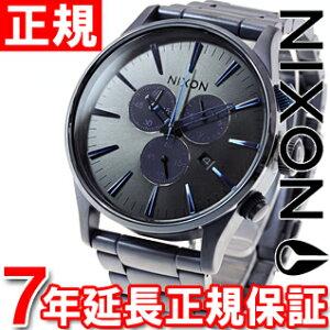 ニクソンNIXONセントリークロノSENTRYCHRONO腕時計メンズクロノグラフディープブルーNA3861679-00