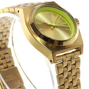 ニクソンNIXONスモールタイムテラーSMALLTIMETELLER腕時計レディースゴールド/ネオンイエローNA3991618-00