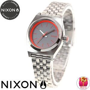 ニクソンNIXONスモールタイムテラーSMALLTIMETELLER腕時計レディースシルバー/ネオンピンクNA3991764-00