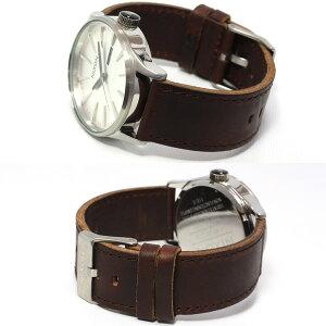 ニクソンNIXONセントリーレザーSENTRYLEATHER腕時計メンズシルバー/ブラウンNA1051113-00