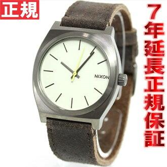 Nixon NIXON time teller p TIME TELLER watch men's gunmetal / Brown NA0451388-00