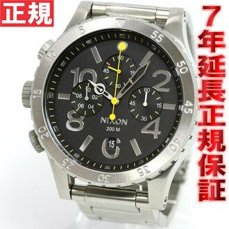 Nixon NIXON 48-20 Chrono 48-20 CHRONO watch mens chronograph black NA486000-00