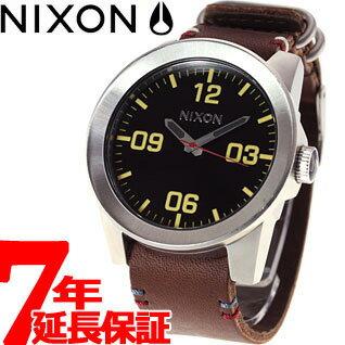 Nixon NIXON コーポラル CORPORAL watch men black / brown NA243019-00