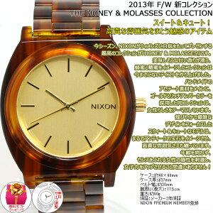 ニクソンNIXONタイムテラーアセテートTIMETELLERACETATE腕時計レディース/メンズゴールド/モラセスNA3271424-00