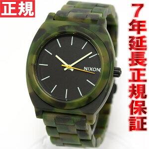 ニクソンNIXONタイムテラーアセテートTIMETELLERACETATE腕時計メンズ/レディースマットブラック/カモNA3271428-00