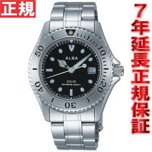 セイコーアルバSEIKOALBAソーラー腕時計メンズダイバーズウォッチAEFD529