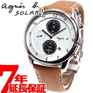 afbd3b43ce アニエスベー agnes b. ソーラー 腕時計 メンズ マルチェロ クロノグラフ FBR…...: