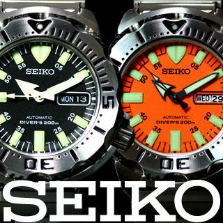 セイコー SEIKO 腕時計 メンズ 逆輸入 ダイバーが送料無料!セイコー 自動巻き ダイバー ブラッ...