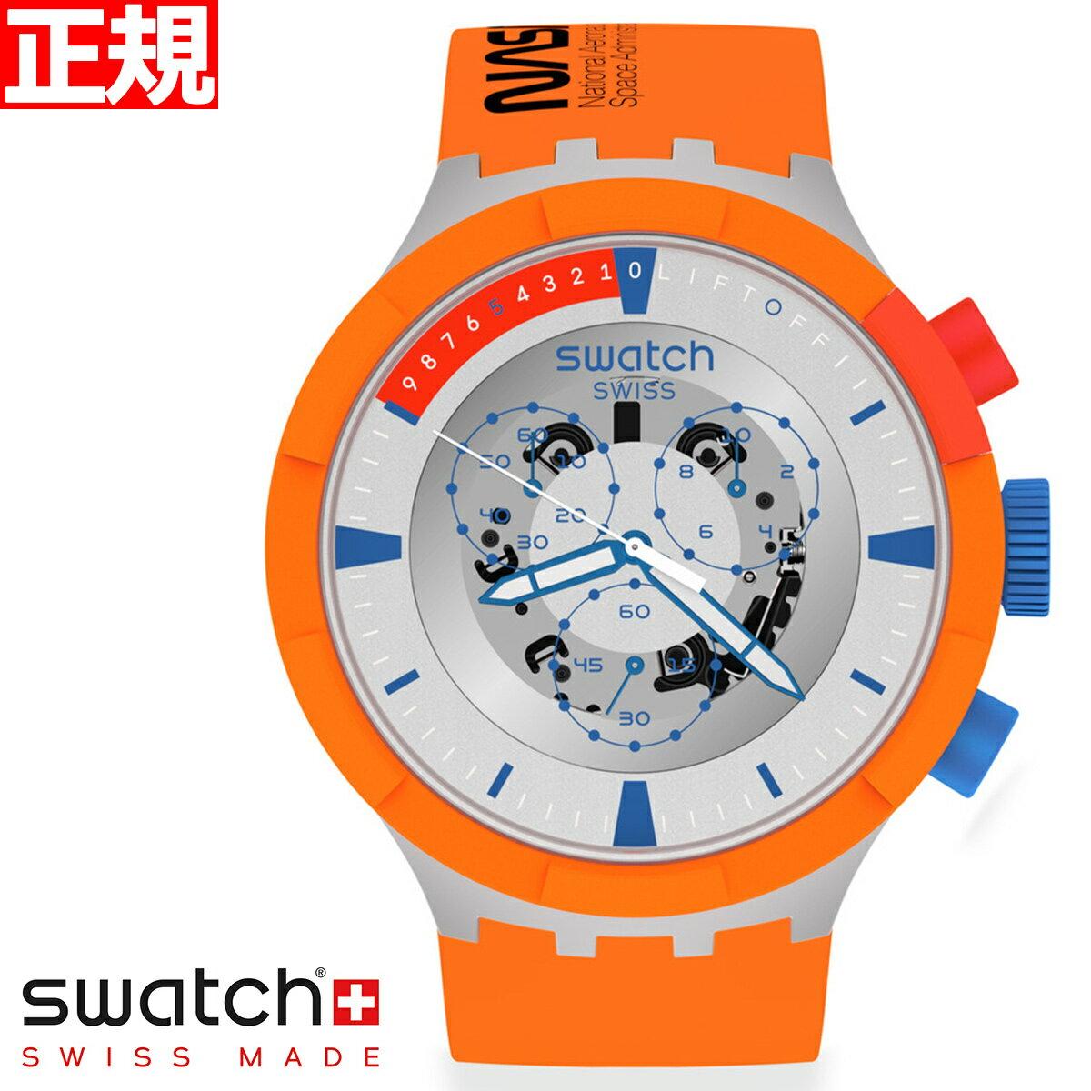 腕時計, メンズ腕時計 502000OFF60.552359swatch SPACE COLLECTION Chrono Launch SB04Z4012021