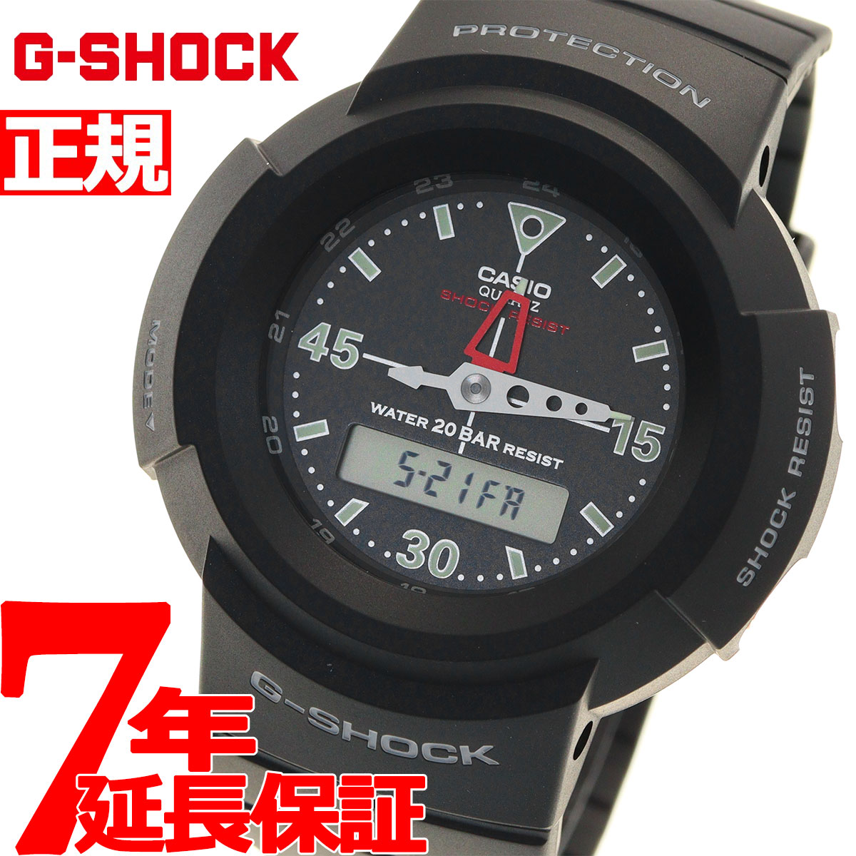 腕時計, メンズ腕時計 35.5G-SHOCK G CASIO AW-500E-1EJF2020