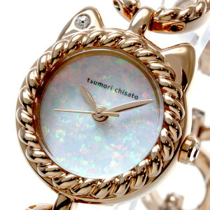 ツモリチサトtsumorichisato腕時計レディース限定モデルリトルネコバラSILCW007