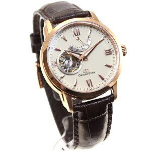 オリエントスターORIENTSTAR腕時計メンズ自動巻きメカニカルセミスケルトンレザーモデルWZ0211DA