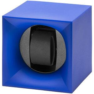 スイスキュービックSWISSKubiKワインディングマシーンウォッチワインダー1本スタートボックスコレクションブルーSK01.STB.004