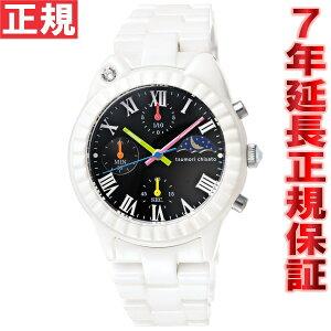 ツモリチサトtsumorichisato腕時計レディースホワイトキャット!クロノグラフNTAR003