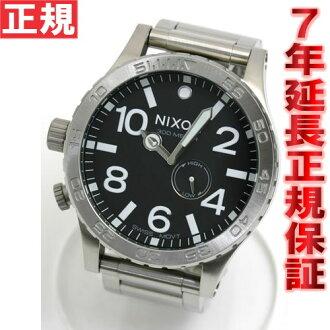 NIXON 51-30 Nixon NIXON THE 51-30 watch mens black NA057000-00 tide features