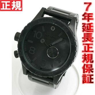 NA057001-00-all black tide with Nixon NIXON 51-30 NIXON THE 51-30 watch