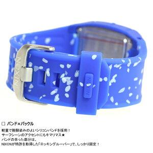 ニクソンNIXONローダウンシリコンLODOWNSILICONE腕時計メンズコバルトスポックルNA2812303-00