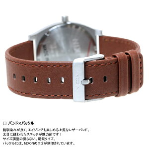 ニクソンNIXONタイムテラーデラックスレザーTIMETELLERDELUXELEATHER腕時計メンズ/レディースネイビーサンレイ/ブラウンNA9272307-00