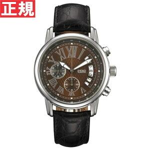 STAGスタッグ腕時計メンズYMNINETYFIVEクロノグラフクロコレザー日本製クォーツSTG011S3