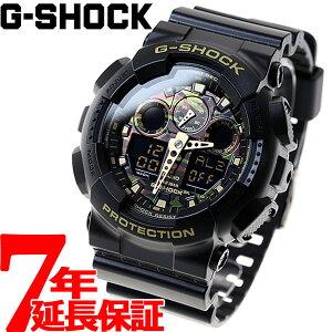 カシオGショックCASIOG-SHOCKカモフラージュダイアル腕時計メンズブラックアナデジGA-100CF-1A9JF