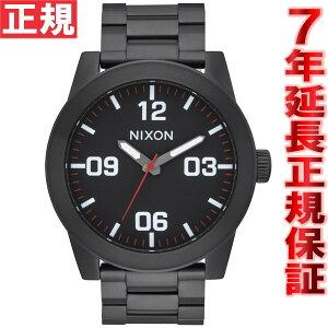 ニクソンNIXONコーポラルSSCORPORALSS腕時計メンズオールブラック/ホワイトNA346756-00