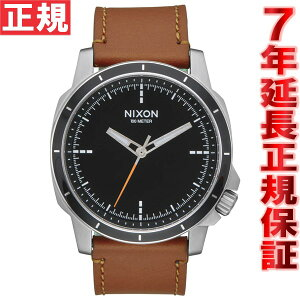 ニクソンNIXONレンジャーOPSレザーRANGEROPSLEATHER腕時計メンズブラック/サドルNA9141037-00
