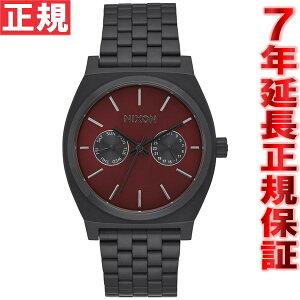 ニクソンNIXONタイムテラーデラックスTIMETELLERDELUXE腕時計メンズ/レディースオールブラック/ディープバーガンディNA9222346-00