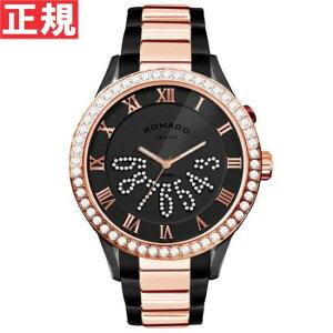 ロマゴデザインROMAGODESIGN腕時計メンズ/レディースLUXURYラグジュアリーRM019-0214SS-RGBK