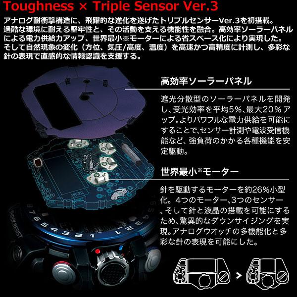 GWN-1000B-1BJF G-SHOCK Gショック ガルフマスター 電波 ソーラー 電波時計 腕時計 メンズ アナデジ タフソーラー GWN-1000B-1BJF ブラック