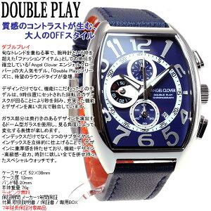 エンジェルクローバーAngelClover腕時計メンズダブルプレイDoublePlayクロノグラフDP38SNV-NV