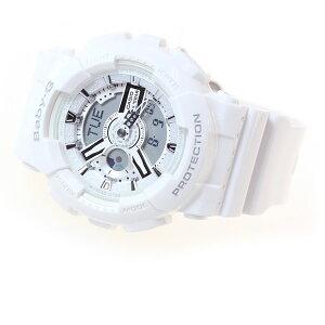 BABY-GカシオベビーG腕時計レディースホワイト白アナデジBA-110-7A3JF【あす楽対応】【即納可】