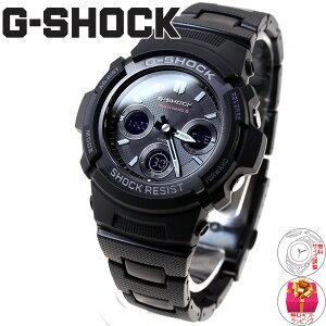 カシオGショックCASIOG-SHOCK電波ソーラー電波時計腕時計メンズブラックアナデジタフソーラーAWG-M100SBC-1AJF