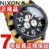 ニクソン NIXON 51-30クロノレザー 51-30 CHRONO LEATHER 腕時計 メンズ オールブラック/ゴールデンロッド NA1242448-00【2016 新作】