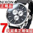 ニクソン NIXON セントリークロノレザー SENTRY CHRONO LEATHER 腕時計 メンズ クロノグラフ ブラック NA405000-00【2016 新作】