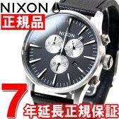 【10%OFFクーポン!3月27日9時59分まで!】ニクソン NIXON セントリークロノレザー SENTRY CHRONO LEATHER 腕時計 メンズ クロノグラフ ブラック NA405000-00【2016 新作】