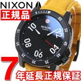 【10%OFFクーポン!3月27日9時59分まで!】ニクソン NIXON レンジャーレザー RANGER LEATHER 腕時計 メンズ オールブラック/ゴールデンロッド NA5082448-00【2016 新作】【あす楽対応】【即納可】