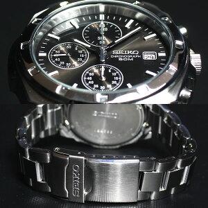 セイコーSEIKO逆輸入クロノグラフブラックSEIKO腕時計クロノグラフSND191