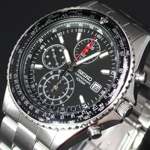 セイコーSEIKO腕時計メンズクロノグラフ逆輸入セイコーSND253SND255パイロットクロノグラフ
