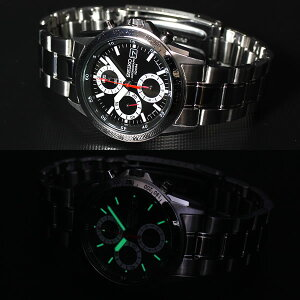 セイコー逆輸入SEIKOクロノグラフ腕時計SND371P1100M防水