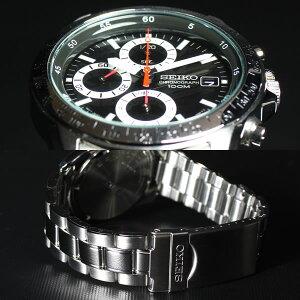 セイコーSEIKO逆輸入SEIKOクロノグラフ腕時計SND371P1100M防水