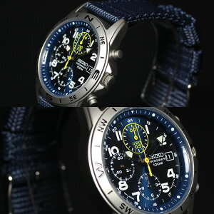 セイコーSEIKO逆輸入腕時計ミリタリークロノグラフSND379P2
