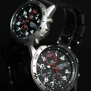 SEIKOセイコー逆輸入クロノグラフ腕時計SND399P1