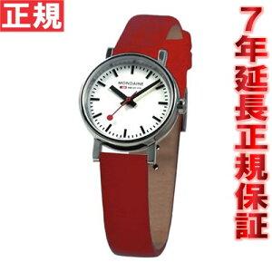 MONDAINEモンディーン腕時計エヴォLホワイトレッドレザーA658.30301.11SBC