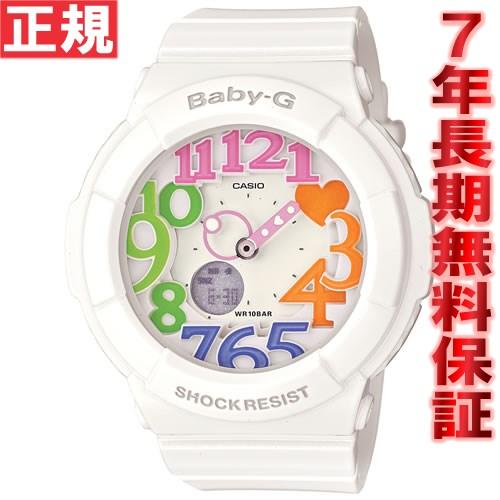 BABY-G カシオ ベビーG ネオンダイアル 腕時計 レディース ホワイト 白 アナデジ BGA-131-7B3JF【...