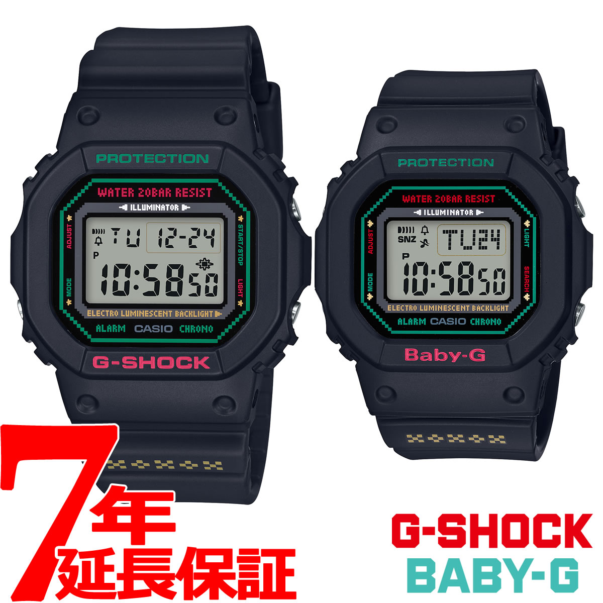 腕時計, メンズ腕時計 20060202359 CASIO 2019 G G-SHOCK G BABY-G LOV-19B-1JR