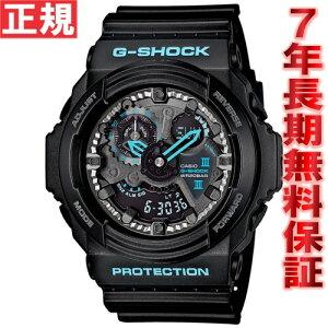 カシオGショックCASIOG-SHOCK腕時計メンズブラック×ブルーアナデジGA-300BA-1AJF