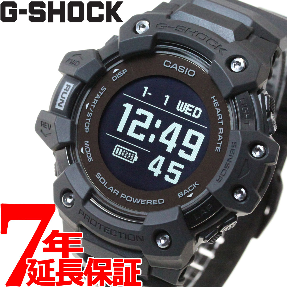 腕時計, メンズ腕時計 2001OFF37202359G-SHOCK G-SQUAD G CASIO Bluetooth GPS GBD-H1000-1JR2020